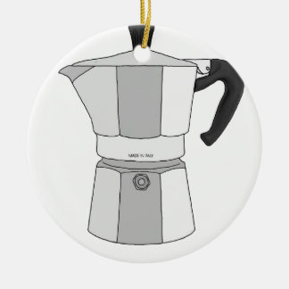Mokaのコーヒーポット セラミックオーナメント