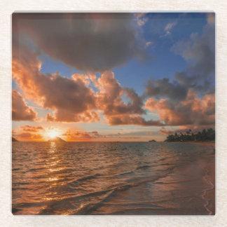 Mokuluaの島の日の出 ガラスコースター