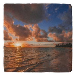 Mokuluaの島の日の出 トリベット