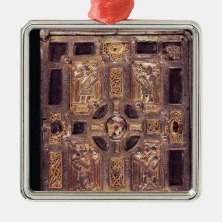 Molaise、c.1001-25の本神社かCumdach シルバーカラー正方形オーナメント