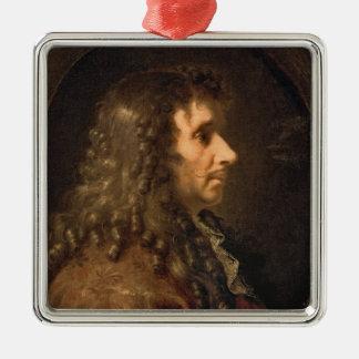 Moliere 1660年のポートレート メタルオーナメント