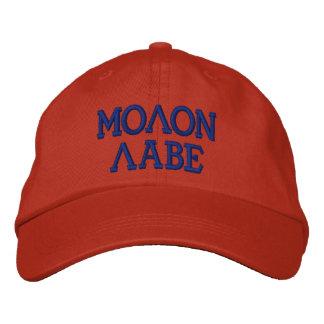 MolonのLabeによって刺繍される帽子 刺繍入りキャップ