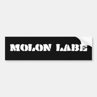Molonのlabeのバンパーステッカー バンパーステッカー