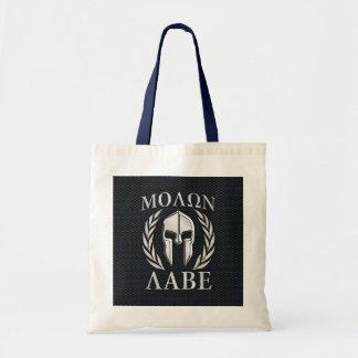 Molon Labeのクロムはグリルのスパルタ式のヘルメットを好みます トートバッグ
