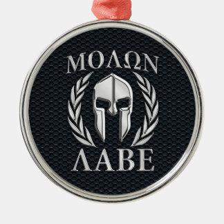 Molon Labeのクロムはグリルのスパルタ式のヘルメットを好みます メタルオーナメント