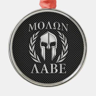 Molon Labeのクロムスタイルのスパルタ式の装甲カーボン繊維 メタルオーナメント