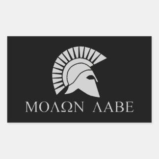 Molon Labeのステッカー- 4のシート 長方形シール