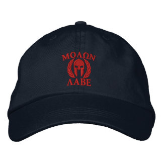 Molon Labeのスパルタ式のヘルメットの刺繍 刺繍入りキャップ