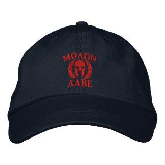 Molon Labeのスパルタ式のヘルメットの刺繍 刺繍入りハット