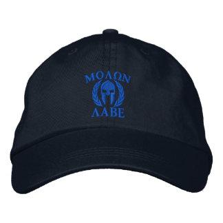 Molon Labeのスパルタ式のヘルメットの刺繍 刺繍入りベースボールキャップ