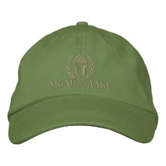 Molon Labeのスパルタ式のヘルメットの月桂樹の刺繍 刺繍入り野球キャップ