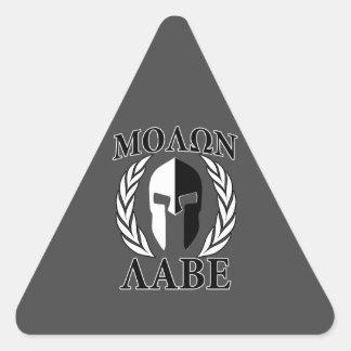 Molon Labeのスパルタ式のヘルメットの月桂樹の木炭 三角形シール