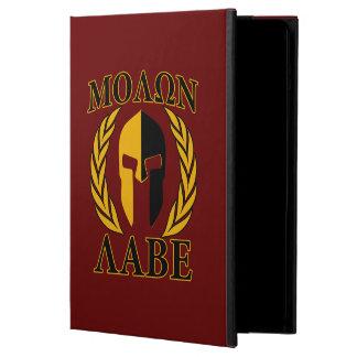 Molon Labeのスパルタ式のマスクの月桂樹のバーガンディの装飾 iPad Airケース