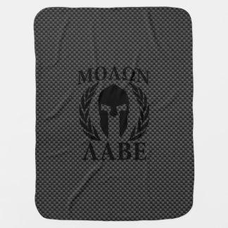 Molon Labeのスパルタ式の戦士の月桂樹 ベビー ブランケット