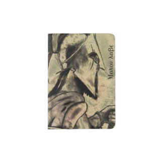 Molon Labeのスパルタ式の戦士 パスポートカバー