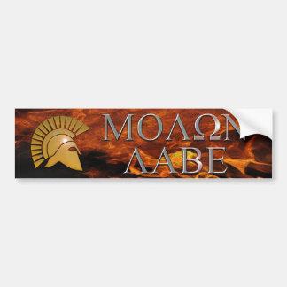 Molon Labeのバンパーステッカー バンパーステッカー