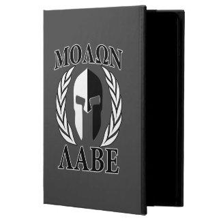 Molon Labeのモノクロスパルタ式のマスクの月桂樹 iPad Airケース