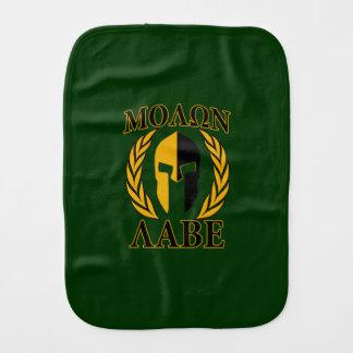Molon Labeの緑のスパルタ式のマスクの月桂樹 バープクロス