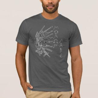 Molon Labeの花2 Tシャツ