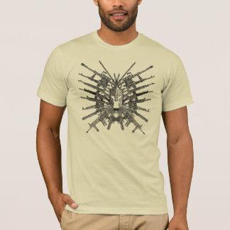 Molon Labeの花 Tシャツ