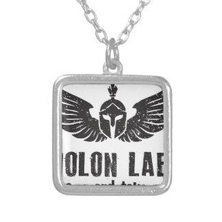 Molon Labe シルバープレートネックレス
