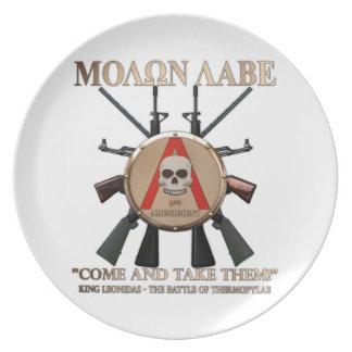 Molon Labe -スパルタ式の盾 プレート