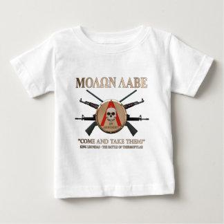 Molon Labe -スパルタ式の盾 ベビーTシャツ