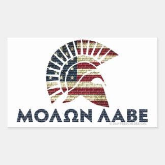 Molon Labe! 長方形シール