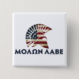 Molon Labe! 5.1cm 正方形バッジ