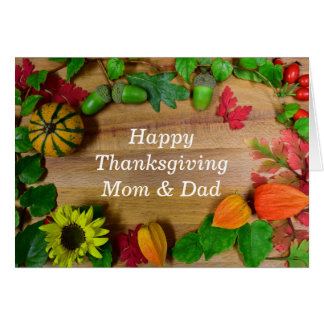 Mom And Dad Thanksgiving Day カード