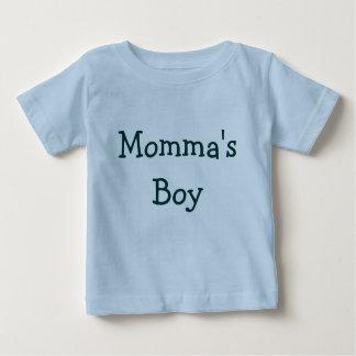 Mommaの男の子 ベビーTシャツ