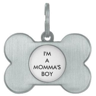 Mommaの男の子 ペットネームタグ