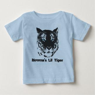 MommaのLilのトラのベビーのワイシャツ ベビーTシャツ