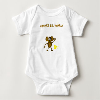 MommaのLil猿 ベビーボディスーツ