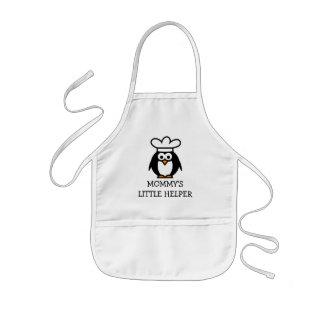 Mommysの子供のための小さい助手のペンギンの台所エプロン 子供用エプロン