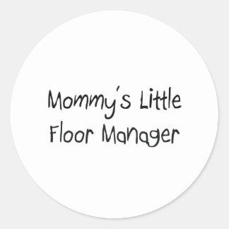 Mommys|少し|床|マネージャー 丸形シール・ステッカー
