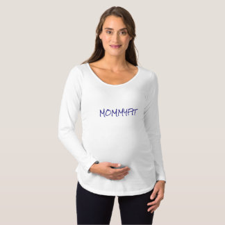 MOMMYSTRONGの妊婦のな長袖のTシャツ マタニティTシャツ