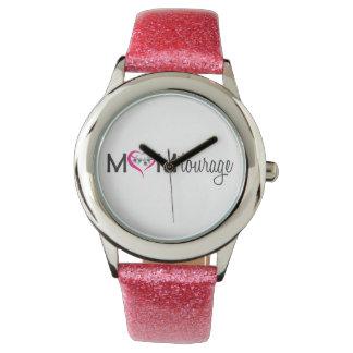Momtourageのピンクの腕時計 腕時計