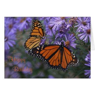 Monarch Butterfly Happy Birthday カード