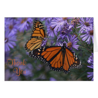 Monarch Butterfly Thank You カード
