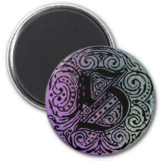 """Monarchia """"S""""の紫色および青の背景の磁石 マグネット"""