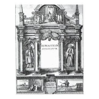 「Monasticon AnglicanumへのFrontispiece ポストカード