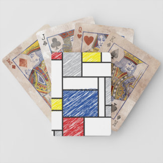 Mondrian De Stijl Scribblesの近代美術の演劇カード バイスクルトランプ