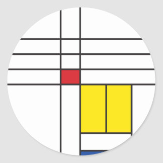 Mondrian Minimalist De Stijlの近代美術のシンプル ラウンドシール