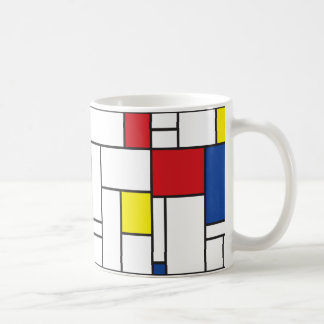 Mondrian Minimalist De Stijlの近代美術のマグ コーヒーマグカップ