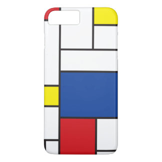Mondrian Minimalist De Stijl ArtのiPhoneの穹窖 iPhone 8 Plus/7 Plusケース