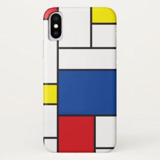 Mondrian Minimalist De Stijl ArtのiPhoneの穹窖 iPhone X ケース