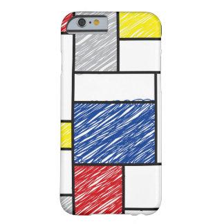 Mondrian Minimalist De Stijl ArtはiPhoneを走り書きします Barely There iPhone 6 ケース