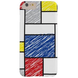 Mondrian Minimalist De Stijl ArtはiPhoneを走り書きします Barely There iPhone 6 Plus ケース