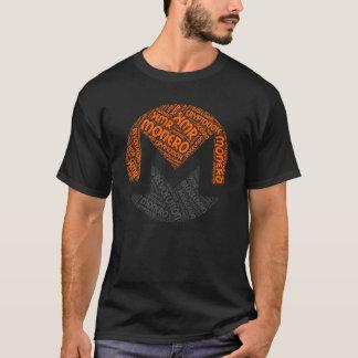 Moneroの改革のブロック・チェーンのCyrptoの単語のワイシャツ Tシャツ